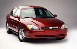 A Ford Taurus, one of Ford's most recognizable North American models.