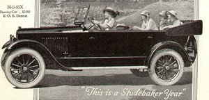 Studebaker's Big Six Touring Car, from a 1920 magazine ad.